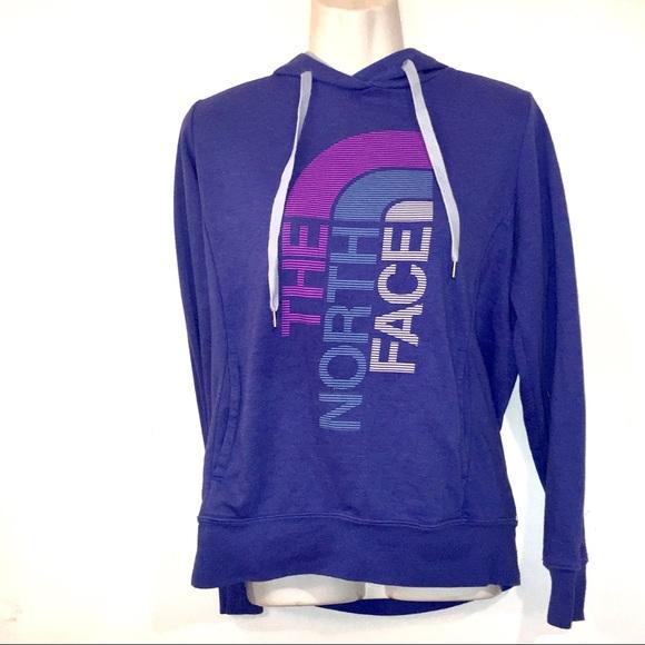 811eb4bf3 The North Face Blue Purple Logo Hooded Sweatshirt